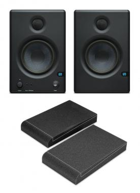 PreSonus Eris E4.5 Aktive Studiomonitor-Paar inkl. Absorberplatten