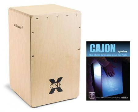 Schlagwerk CP101 Cajon X-One Nature SET inkl. Cajonschule