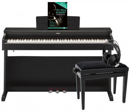 Yamaha YDP-163 B Arius E-Piano Schwarz Matt Deluxe Set
