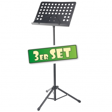 3-Piece Set Pronomic 0S-01P Music Stand, Perforated Metal