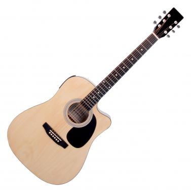 Classic Cantabile WS-10NAT-CE Westerngitarre natur mit Tonabnehmer  - Retoure (Zustand: sehr gut)