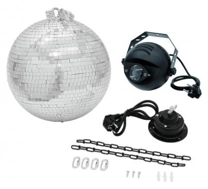 Eurolite LED Spiegelkugelset 30cm inkl. Pinspot und Motor