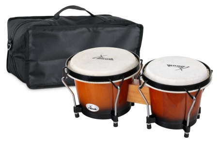 XDrum Bongo Club Standard Sunburst SET incl. housse pour bongo