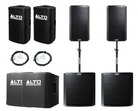 Alto TS212/TS215S Aktivanlagen Set inkl. Zubehör
