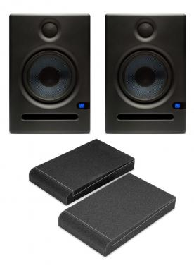 PreSonus Eris E5 Aktives Studiomonitor Paar inkl. Absorberplatten