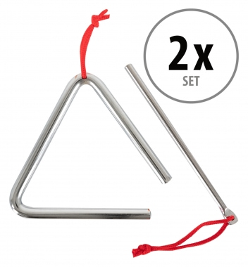 Classic Cantabile Triangle with Mallet 10 cm - 2-piece set