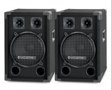 McGrey DJ-1022 Enceintes Party basement / DJ Paire 2 x 400W
