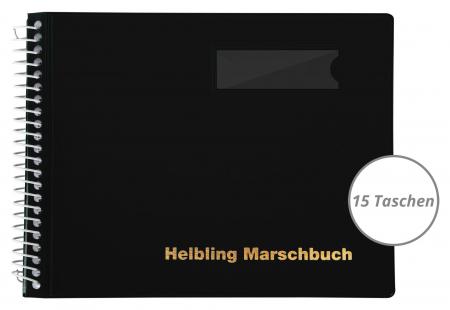 Helbling BMS15 Marschbuch schwarz, 15 Taschen