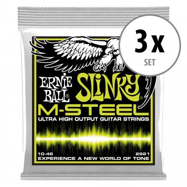 3er Set Ernie Ball 2921 Regular Slinky M-Steel
