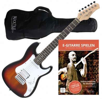 Rocktile Sphere Junior E-Gitarre 3/4 Sunburst + Gitarren-Schule