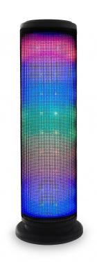 Beatfoxx LEDBeat-Pro portabler LED Bluetooth Lautsprecher USB, SD, AUX, schwarz  - Retoure (Zustand: sehr gut)