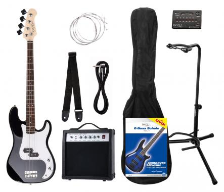 Rocktile Groover's Pack PB E-Bass Set II Black Groover's Pack + Rockt. Tuner + CC stand