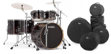 Tama ML52HLZBN-DMF Superstar Maple Drumkit Dark Mocha Fade Set inkl. Gigbags