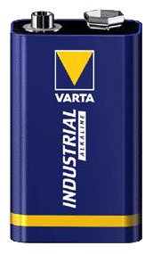 Varta 9 Volt E-blok blauw