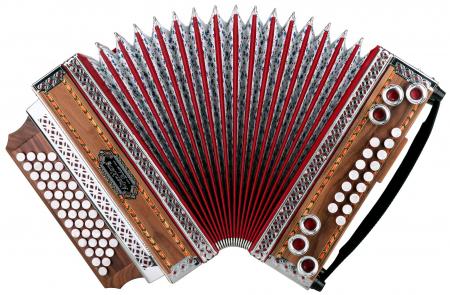 """Alpenklang 4/III harmonica """"""""Deluxe"""""""" B-Es-As-Des noot"""