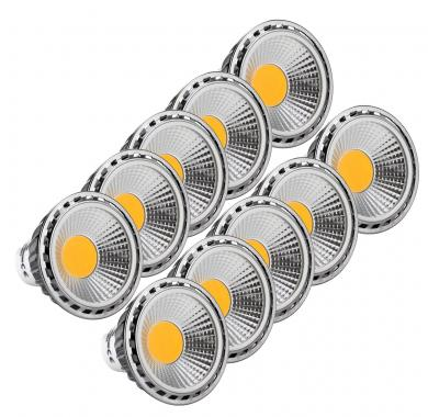 10-Piece Set Showlite LED Spot GU10W05K30D, 5 watts, 330 lumens, GU10 socket, 3000 Kelvin
