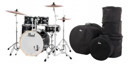 Pearl Export EXX725BR/C31 Drumkit Jet Black Set mit Taschen