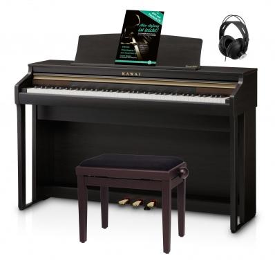 Kawai CA 48 R Digital Piano Rosenholz Set inkl. Pianobank, Kopfhörer & Schule
