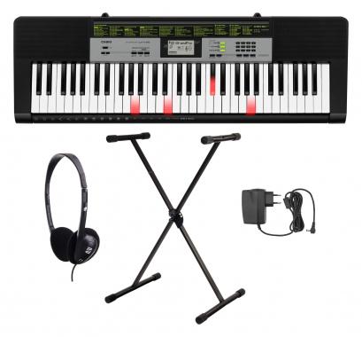 Casio LK-135 Leuchttasten Keyboard Set mit Ständer, Kopfhörer und Netzteil