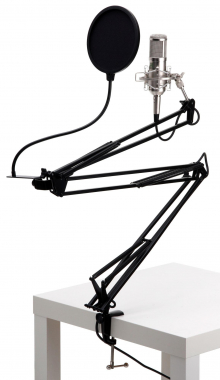 Pronomic CM-100S Radio Show Bundle incl. Black Pop Filter & Microphone Boom