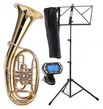 Classic Cantabile TH-38 Baritone SET with Instrument Stand, Tuner/Metronome and Music Stand