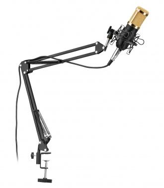McGrey CM-80B condensator podcast microfoon set met microfoonarm