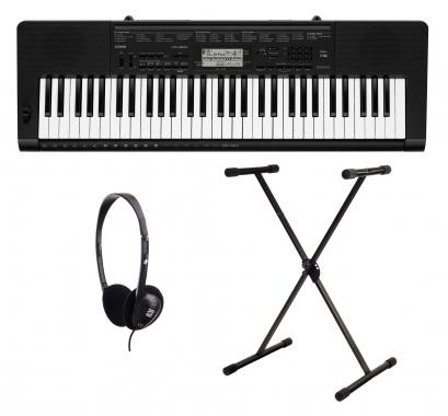 Casio CTK-3500 Keyboard Set mit Ständer und Kopfhörer