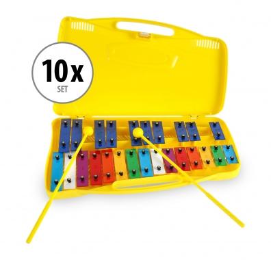 Classic Cantabile Sopran Glockenspiel chromatisch 10er-SET