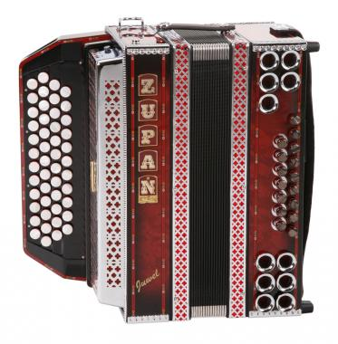 Zupan Juwel IVD Accordion B-Es-As-Des (Shadow Red)