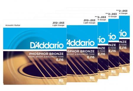D'Addario EJ16 Light - 5er Pack
