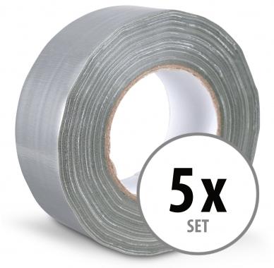 Stagecaptain DT-4850G-PRO Gewebeband Klebeband Gaffa Tape 50m 5er Pack Grau