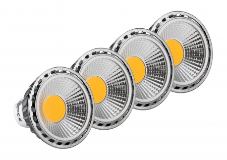 4x SET Showlite LED Spot GU10W05K30N 5 Watt, 330 Lumen, base GU10, 3000 Kelvin