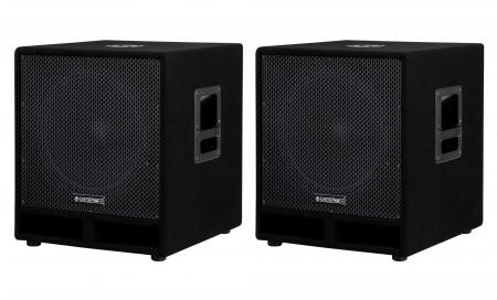 "McGrey PAS-115 15"""" passive PA subwoofer bass speaker pair 1200 Watts"