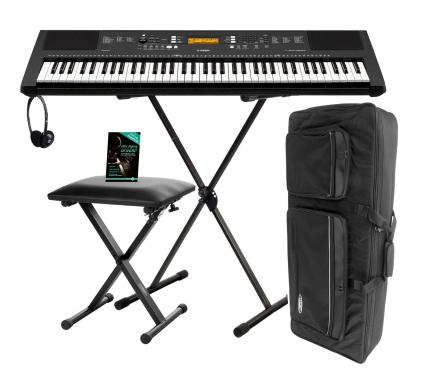 Yamaha PSR-EW300 Keyboard, 76 Tasten Deluxe SET mit Ständer und Kopfhörer