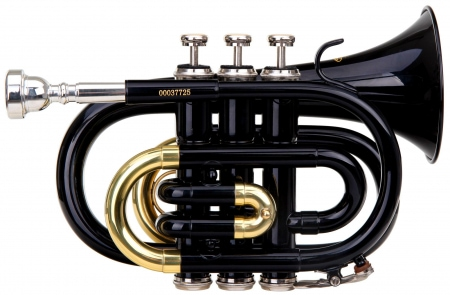 Classic Cantabile Brass TT-400 Bb Pocket Trumpet Black