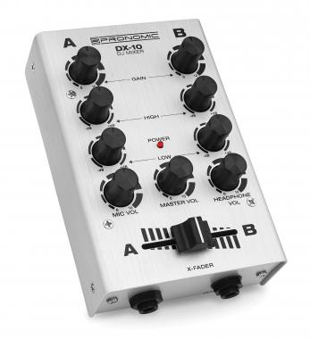 Pronomic DX-10SL DJ Mixer Silber