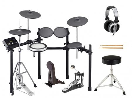 Yamaha DTX532K Compact E-Drum, batteria elettronica digitale con sgabello, bacchette e cuffie