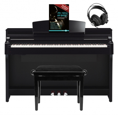 yamaha csp 170 pe digitalpiano schwarz hochglanz set mit. Black Bedroom Furniture Sets. Home Design Ideas