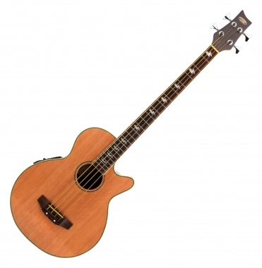 Classic Cantabile AB-40 Acoustic Bass Natural (bass guitar with pickup / pickup, 3-band equalizer, rosewood and spruce)