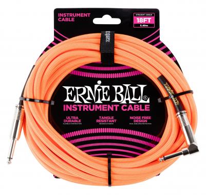 Ernie Ball 6084 Instrumentenkabel 5,49 m Neonorange