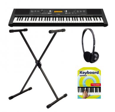 Yamaha PSR-EW300 Keyboard, 76 Tasten SET mit Ständer und Kopfhörer