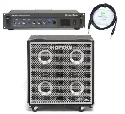 Hartke HX 410 HyDrive Bassbox SET inkl. LH 500 Topteil + Boxenkabel