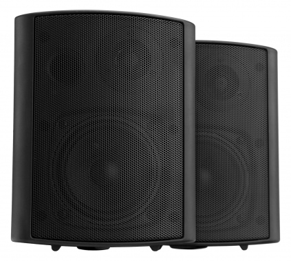 Pronomic USP-660 BK Pair ELA/HiFi Wall Speakers, black, 240 watts