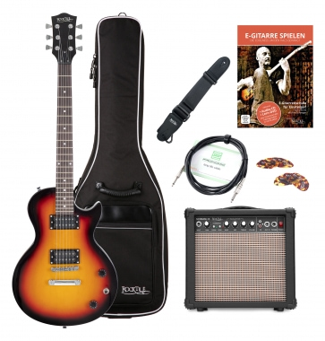 Rocktile L-100 SB electric guitar sunburst starter SET