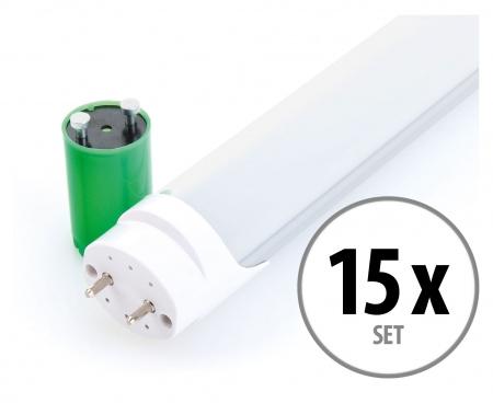 Showlite LED tube T8W18K45F-1200 1200mm set van 15 (lumière blanche 4500K)