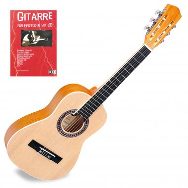 Classic Cantabile Acoustic Series AS-854 Klassikgitarre 1/2 + Gitarre für Einsteiger mit CD