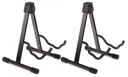 Set of 2 Classic Cantabile Combination Guitar Stand Electric/Acoustic Guitar