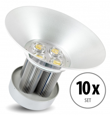 Kit 10 x Showlite HBL-200 COB LED High Bay Faro per capannoni 200W