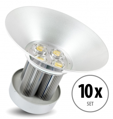 Set de 10 focos Showlite HBL-200 COB LED High Bay de 200W