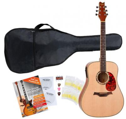 Classic Cantabile WS-2 Western Guitar Starter Pack Natural